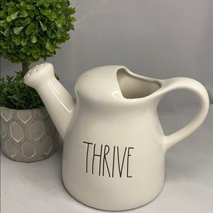 Rae Dunn THRIVE watering can NEW white LL